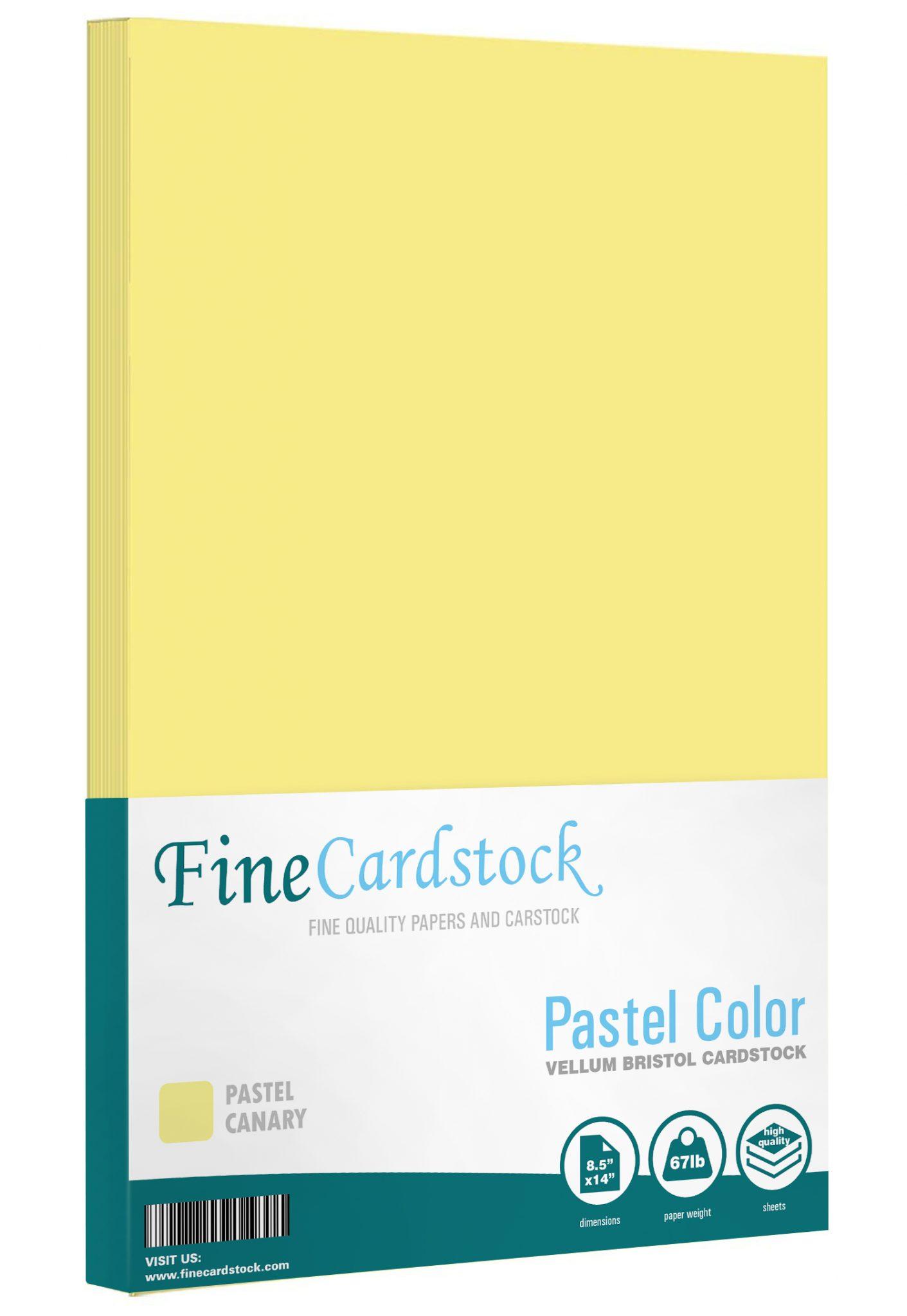 8.5 x 14 Pastel Cardstock