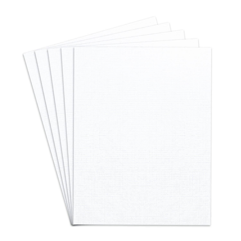8 1/2 x 11 Linen Cardstock