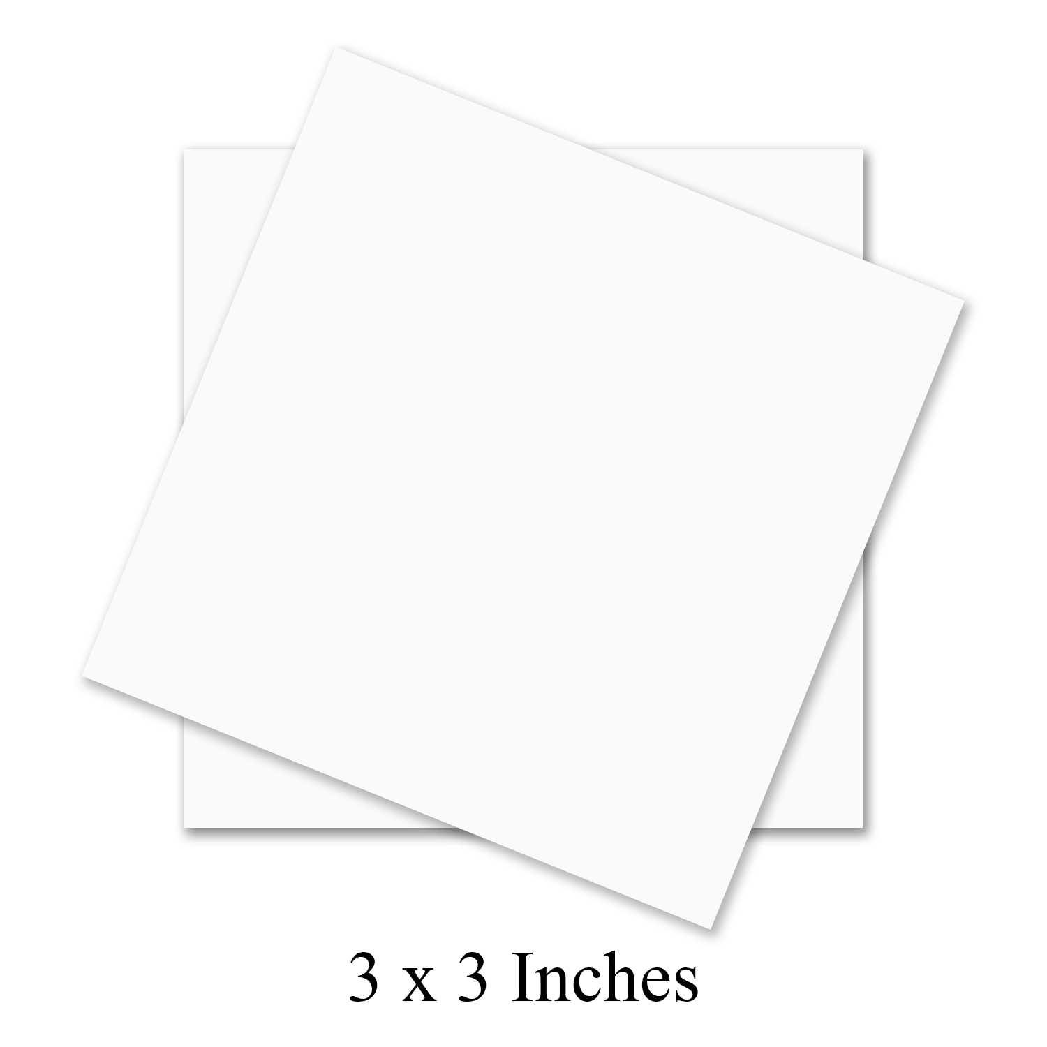 Square White Cardstock