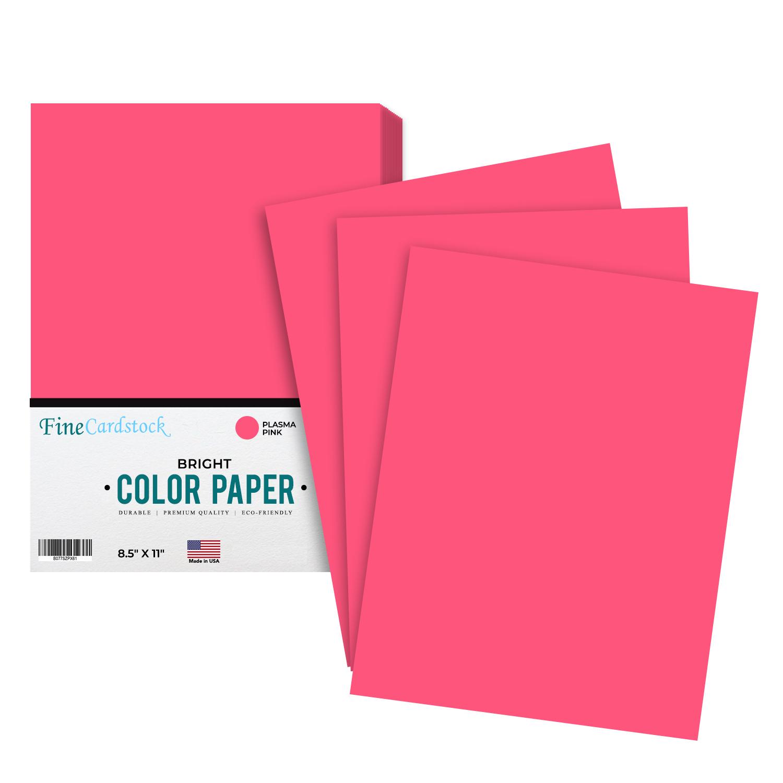 8 1/2 x 11 Color Paper