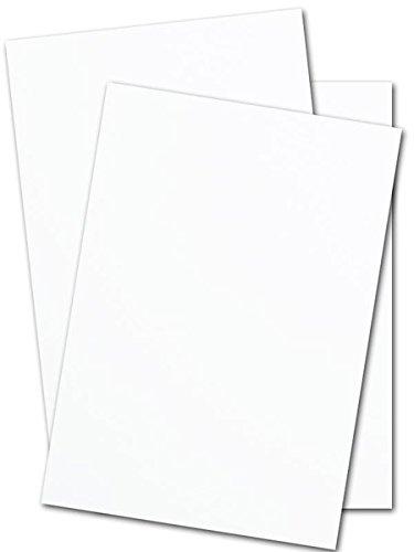 8 1/2 x 11 White Cardstock