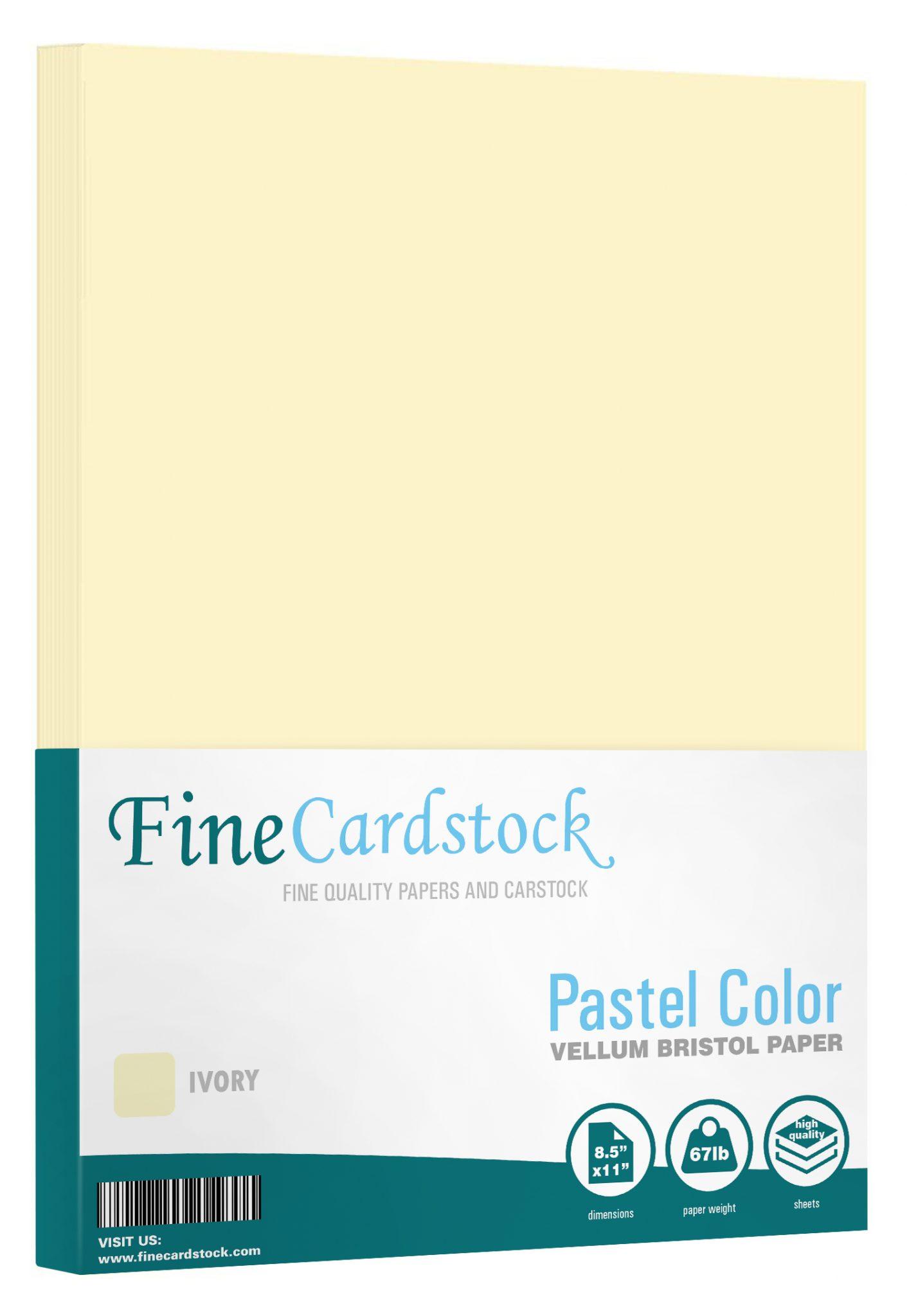 8 1/2 x 11 Pastel Paper
