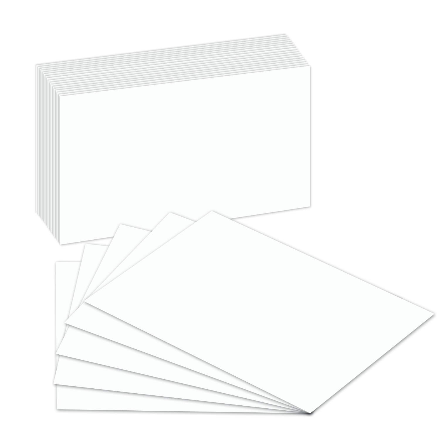 100Lb Cover White Index Cards