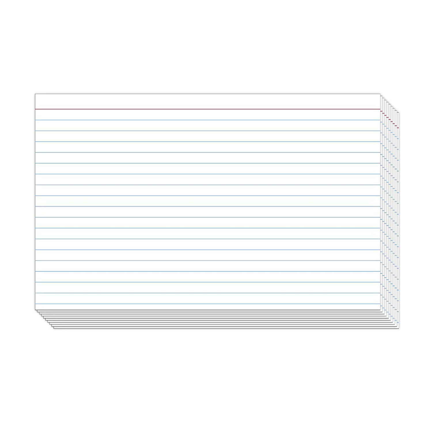 Index Cards Blue Lines