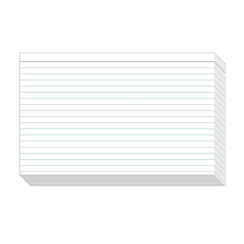 Index Cards Blue Lines