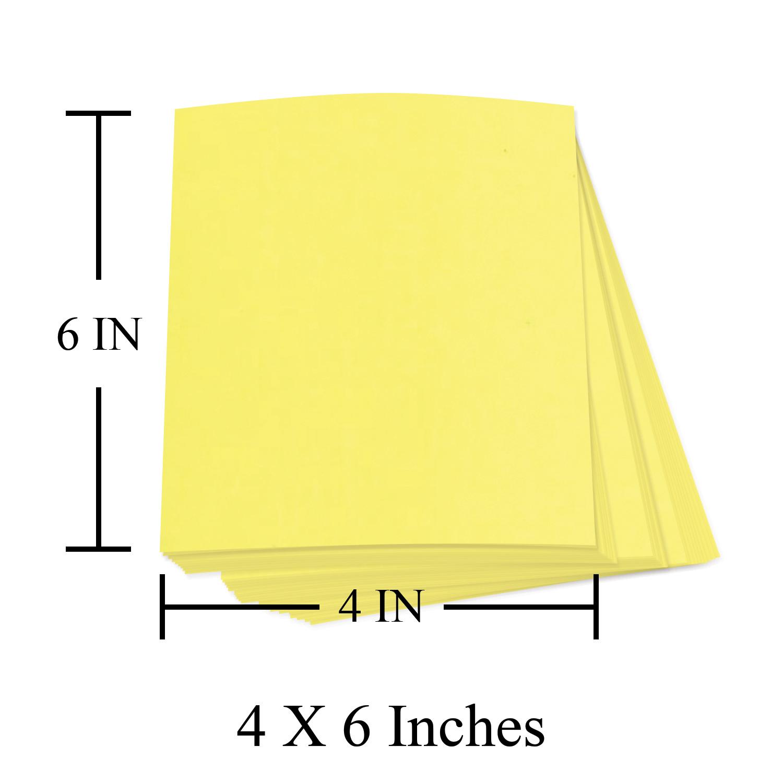 4 x 6 Bright Neon Fluorescent Labels