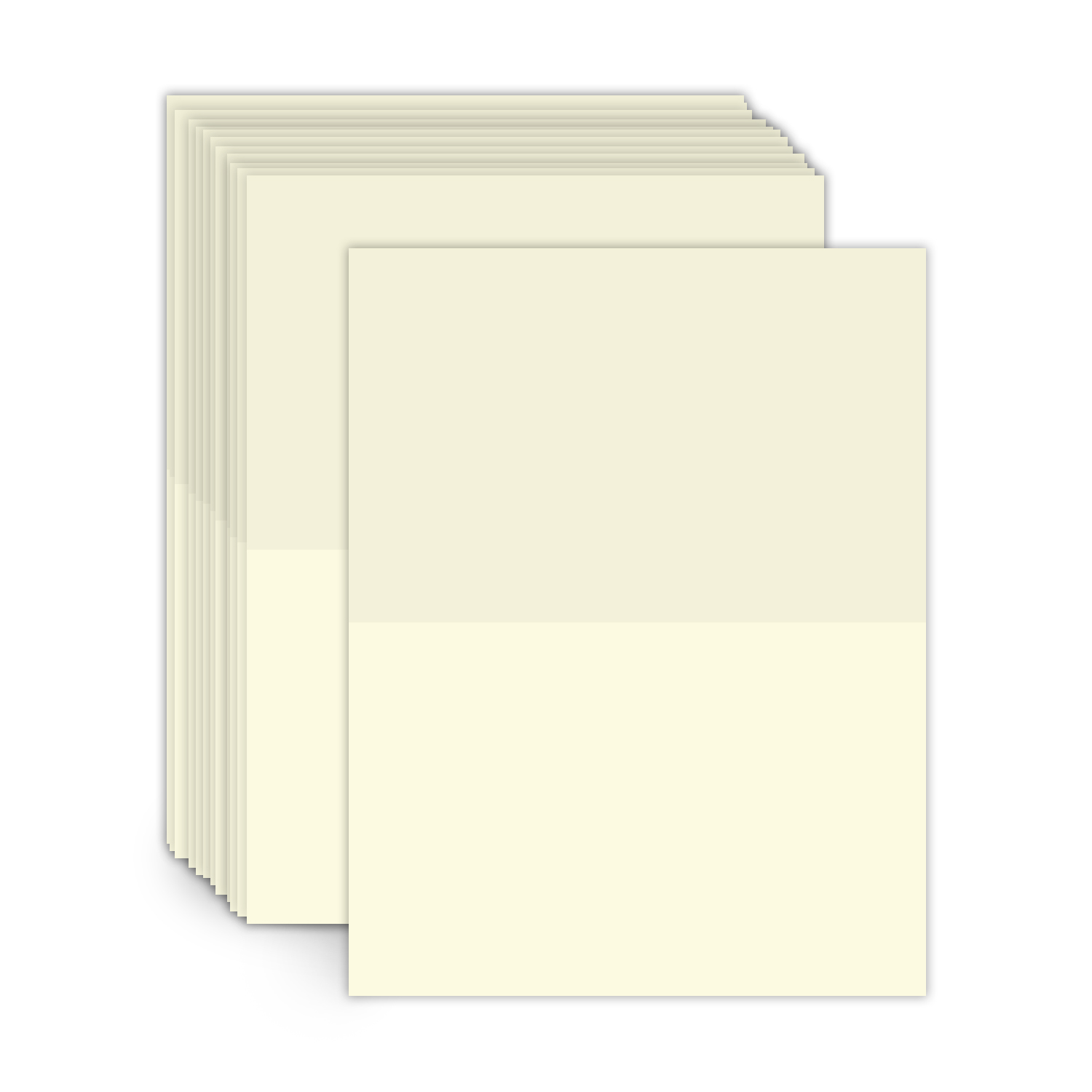 8.5″ X 11″ Scored Foldover Cards
