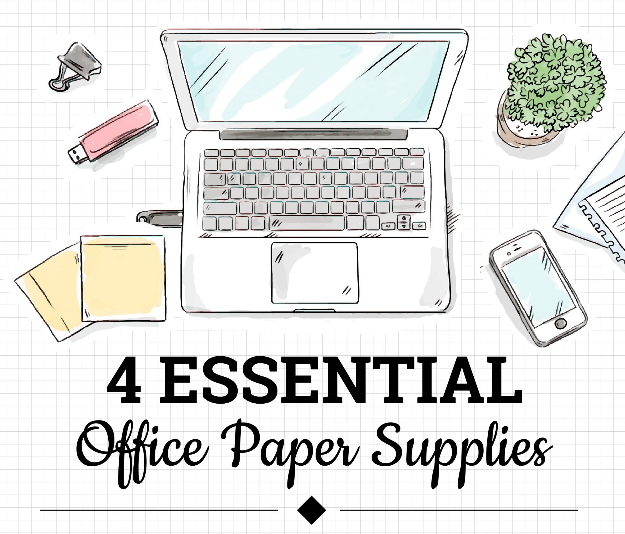 4 Essential Office Paper Supplies – Infographic