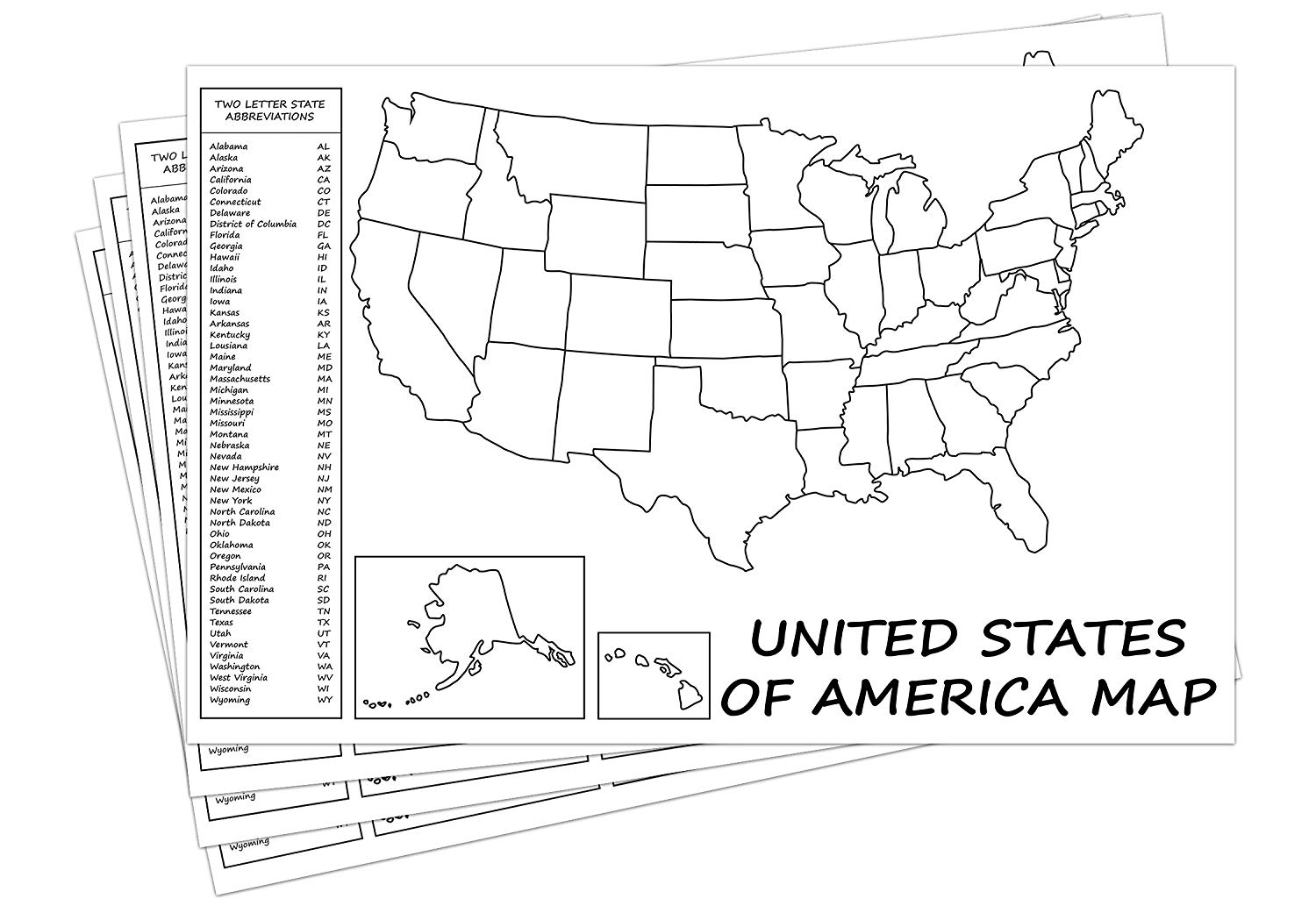 USA Maps Outline