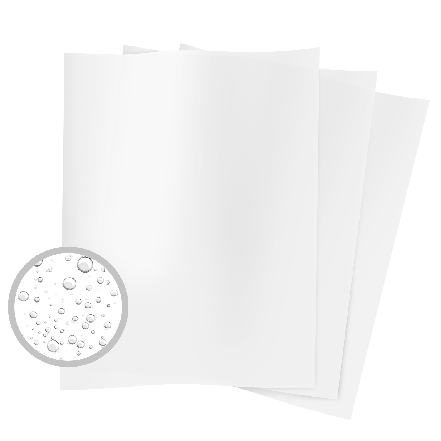 Synthetic Opaque Laser Matte Film Thick Paper