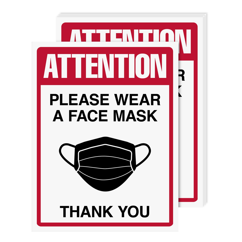 8 1/2 x 11 Please Wear A Mask Poster