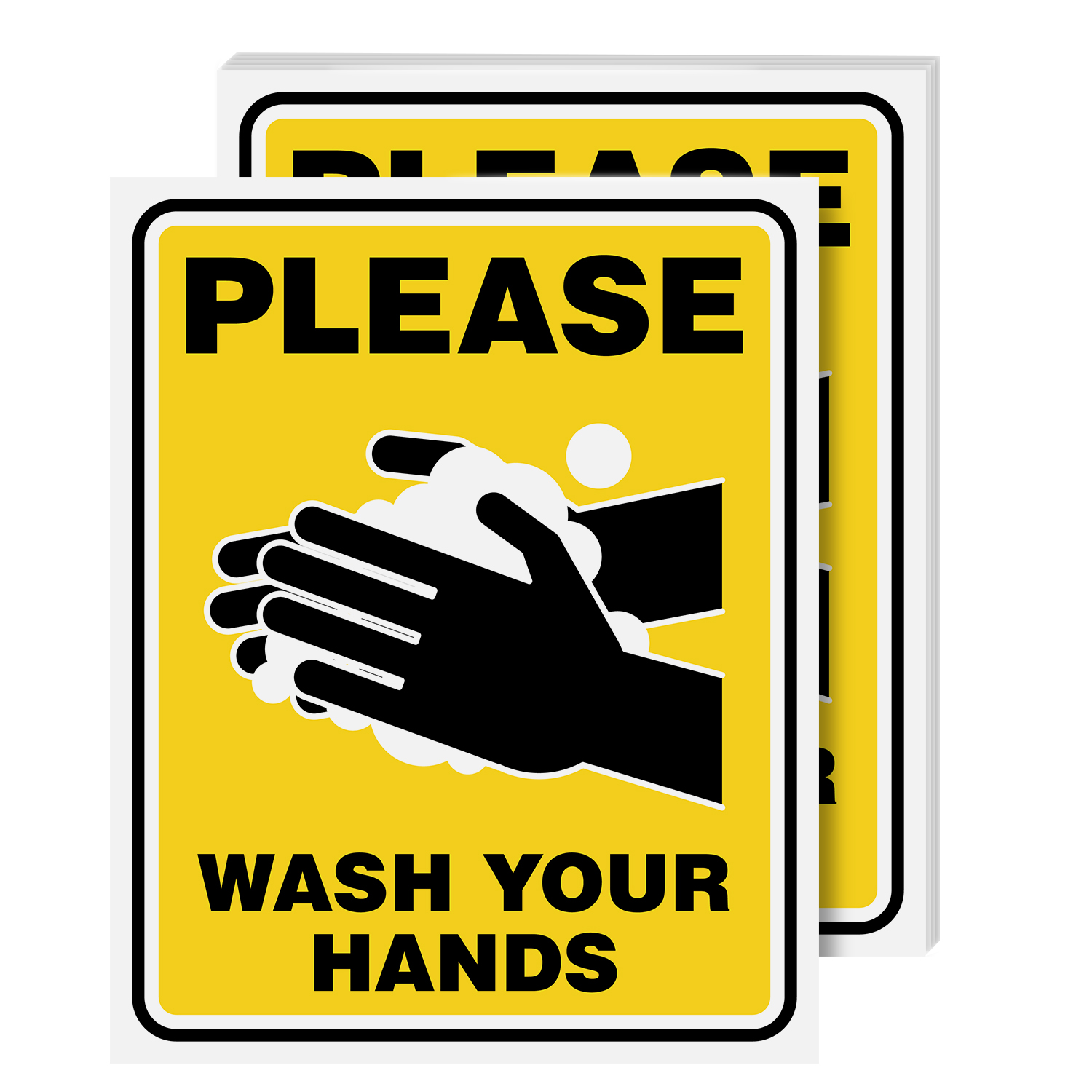 Please Wash Your Hands Laminated Poster