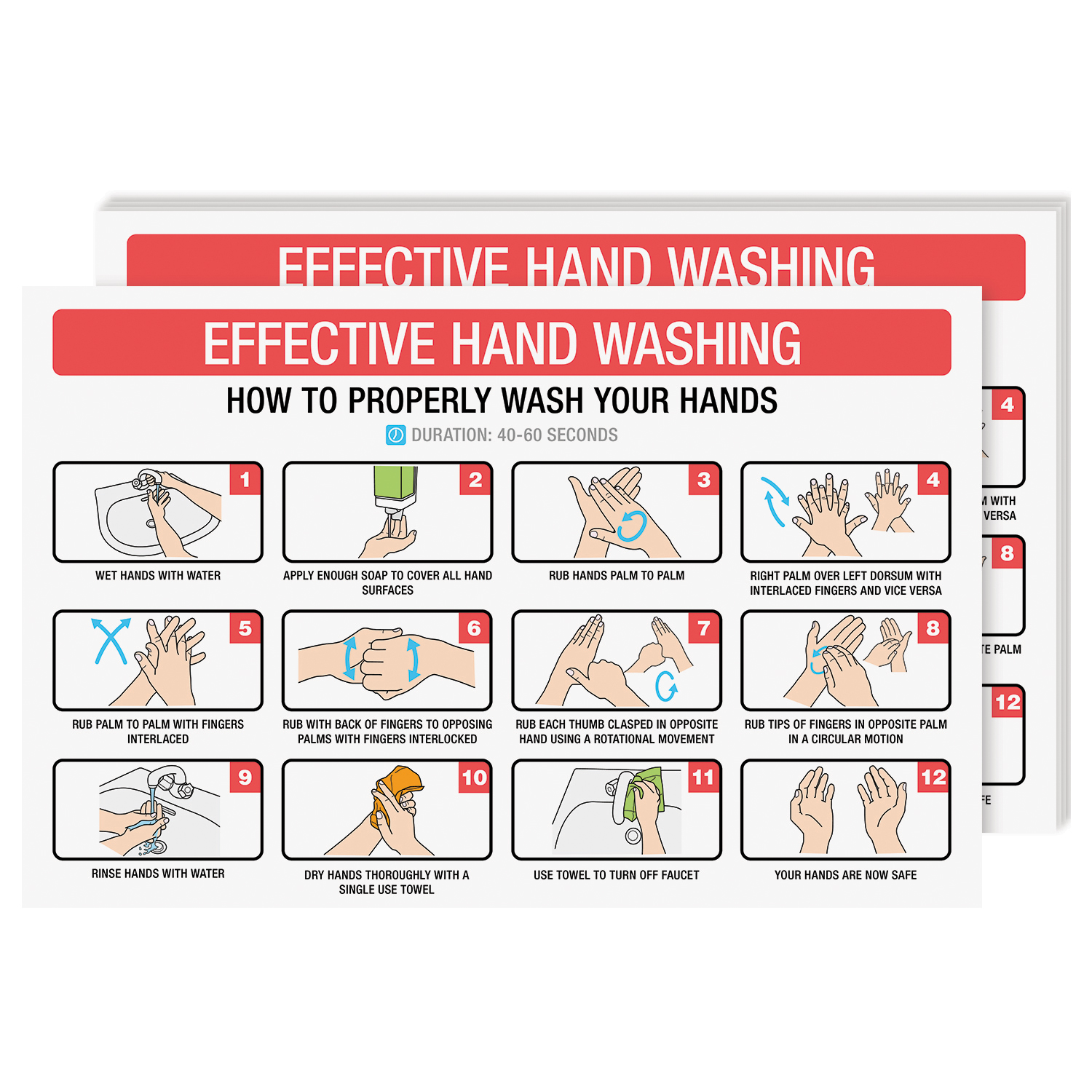 11 x 17 How To Wash Your Hands Poster