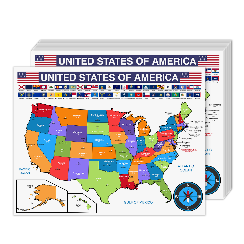 USA Map Cardstock