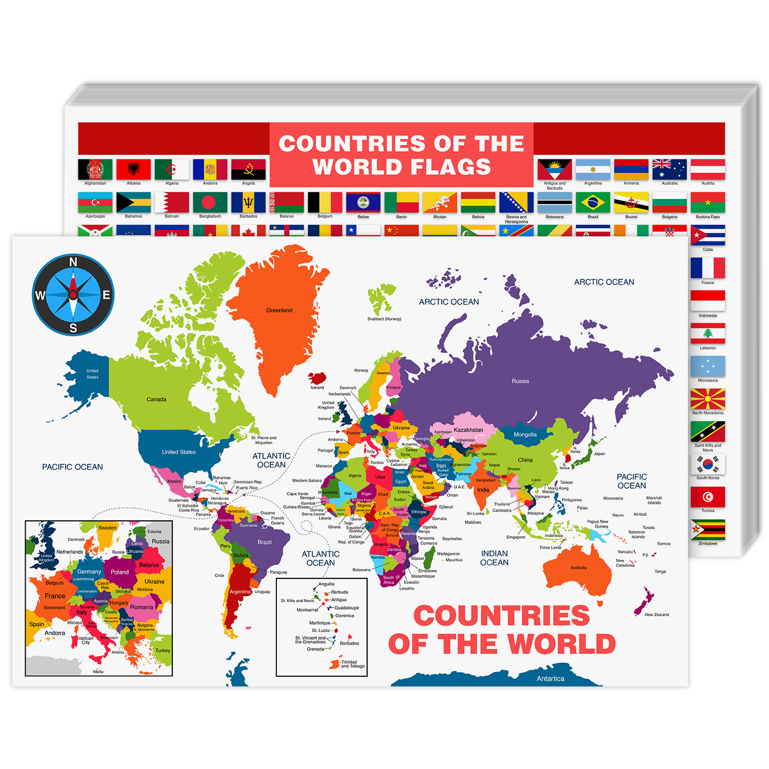 World Map Cardstock
