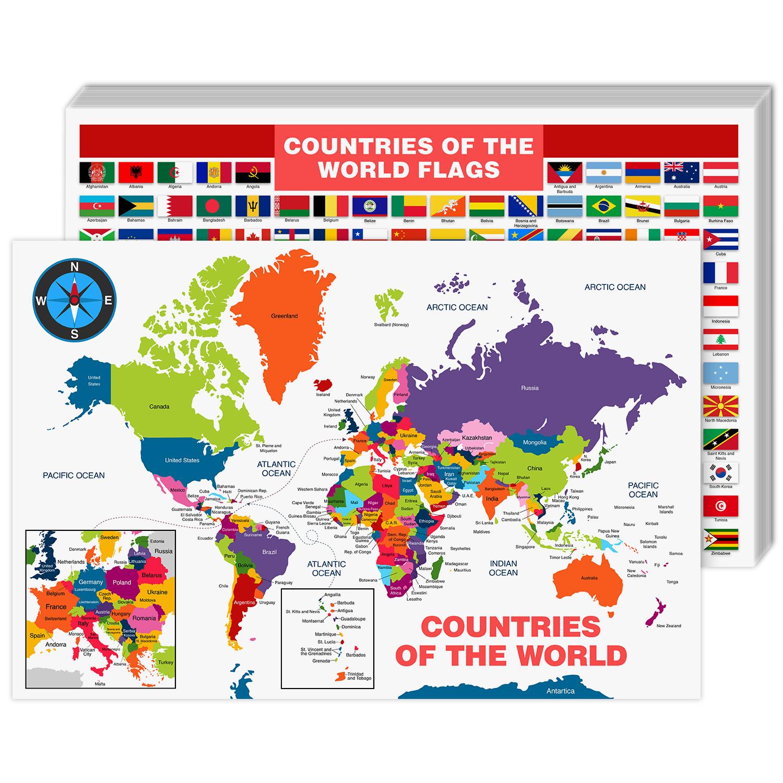 World Map Cardstock