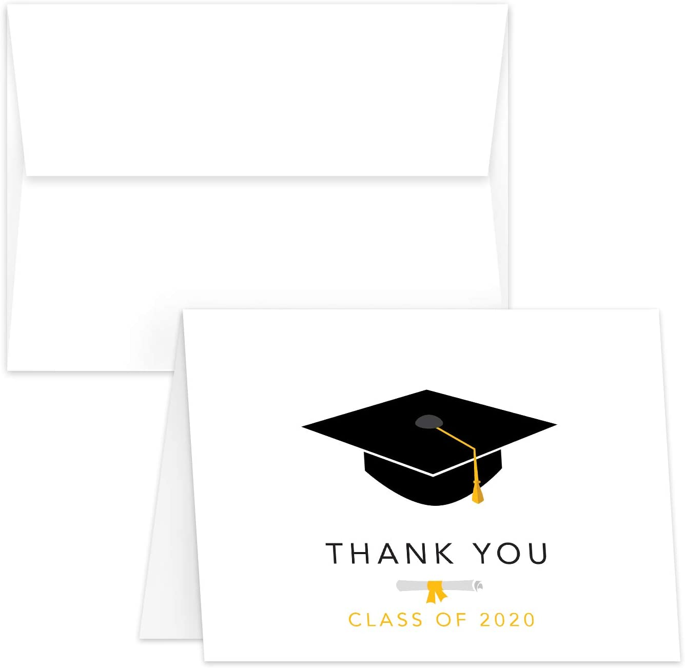 Includes 12 Cards and Envelopes 5.5 x 4.25 12 Pack Blank on the Inside Graduation Congratulations Class of 2020