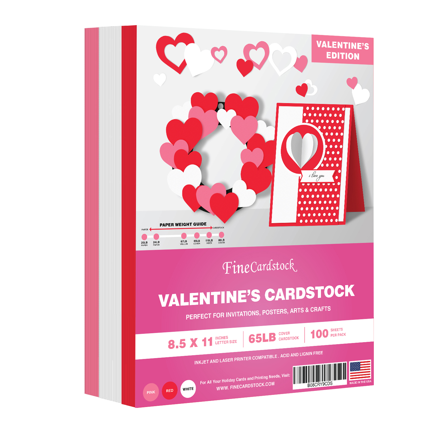 Valentine's Colored Card Stock