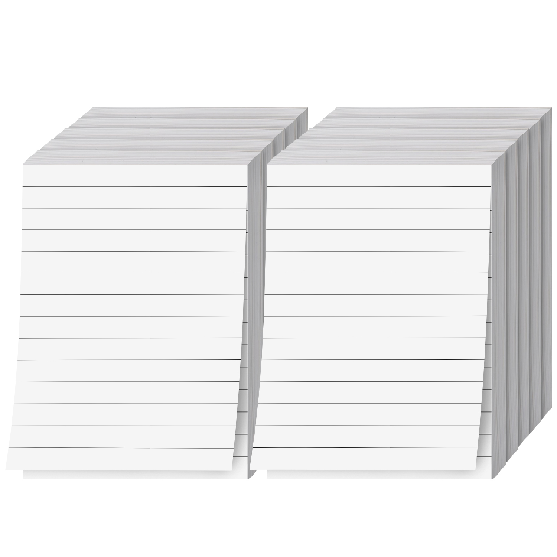 Ruled White Memo Pads