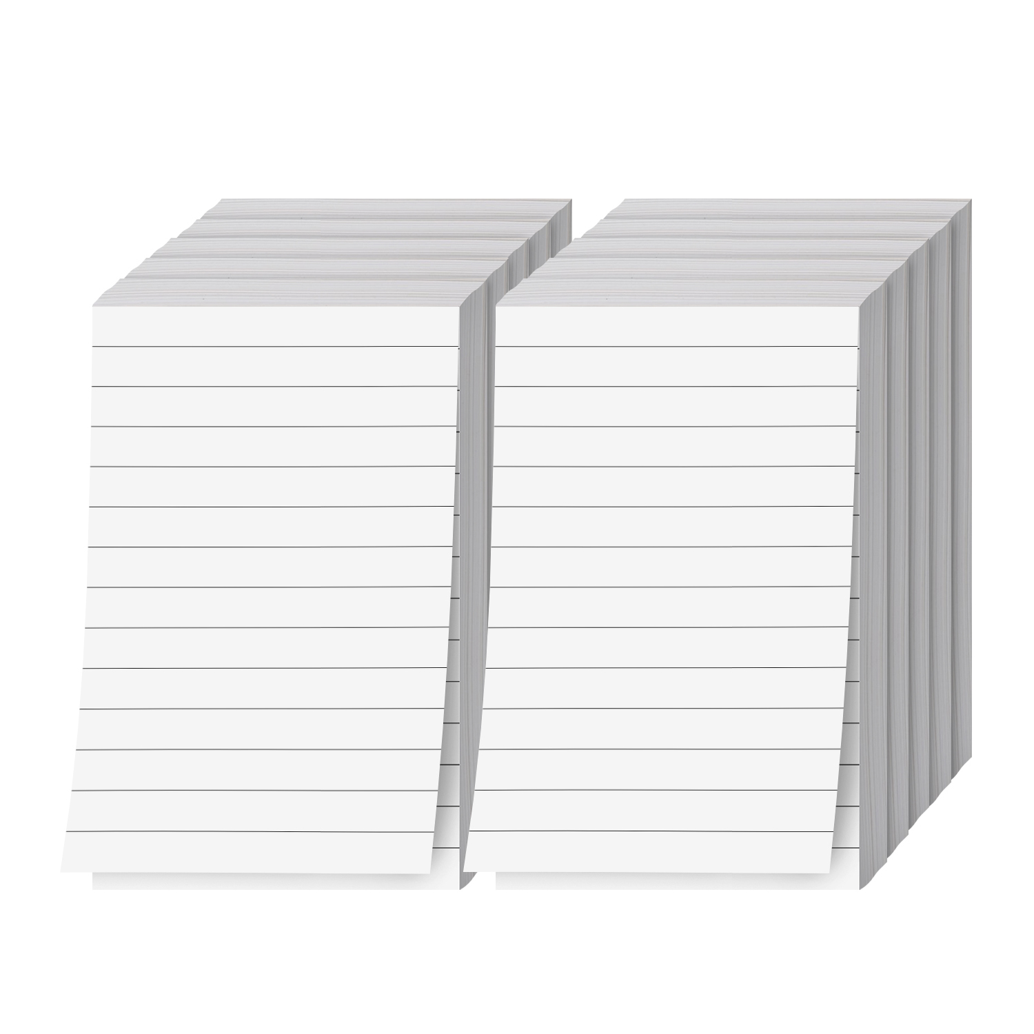 Ruled White Memo Pads