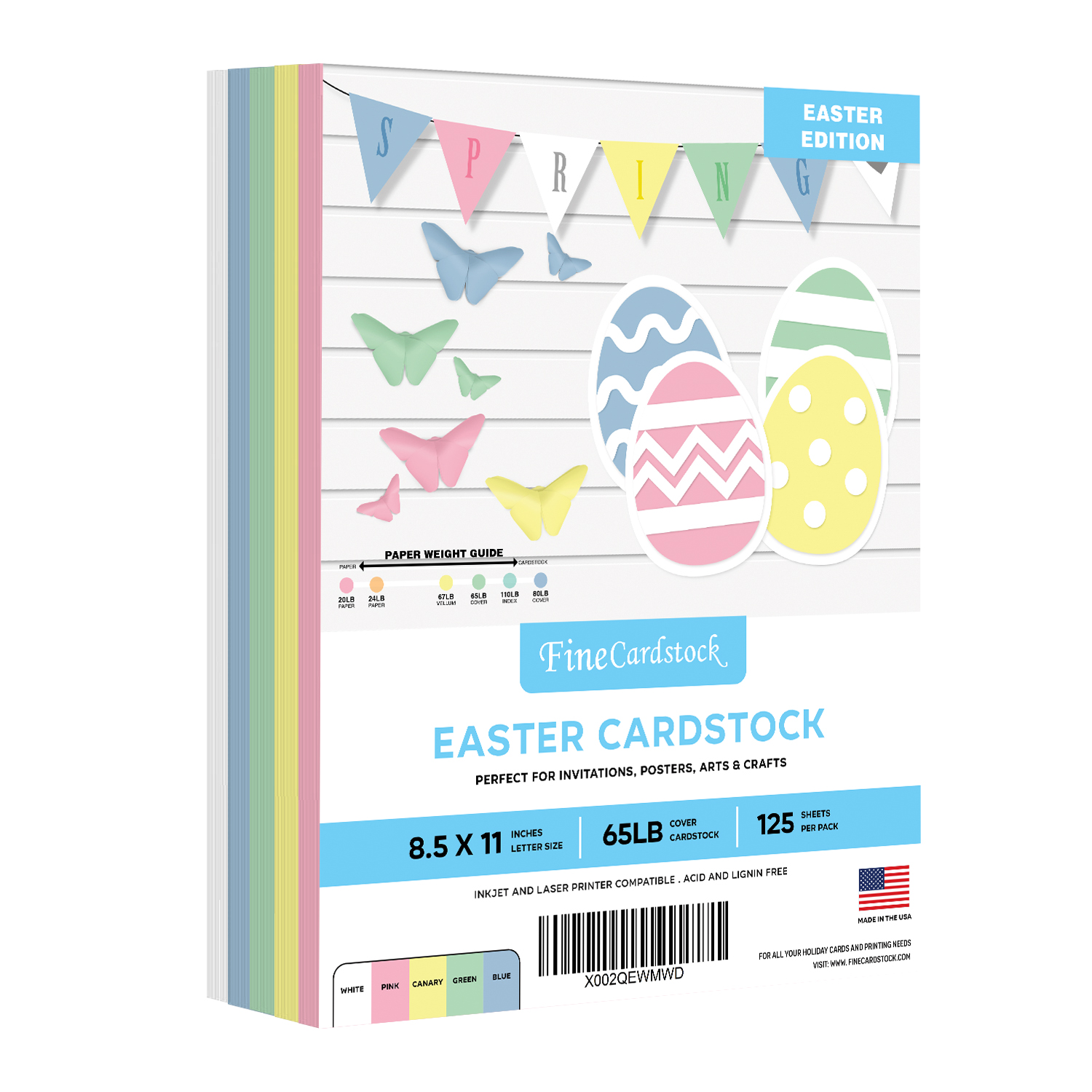 Easter Colored Card Stock